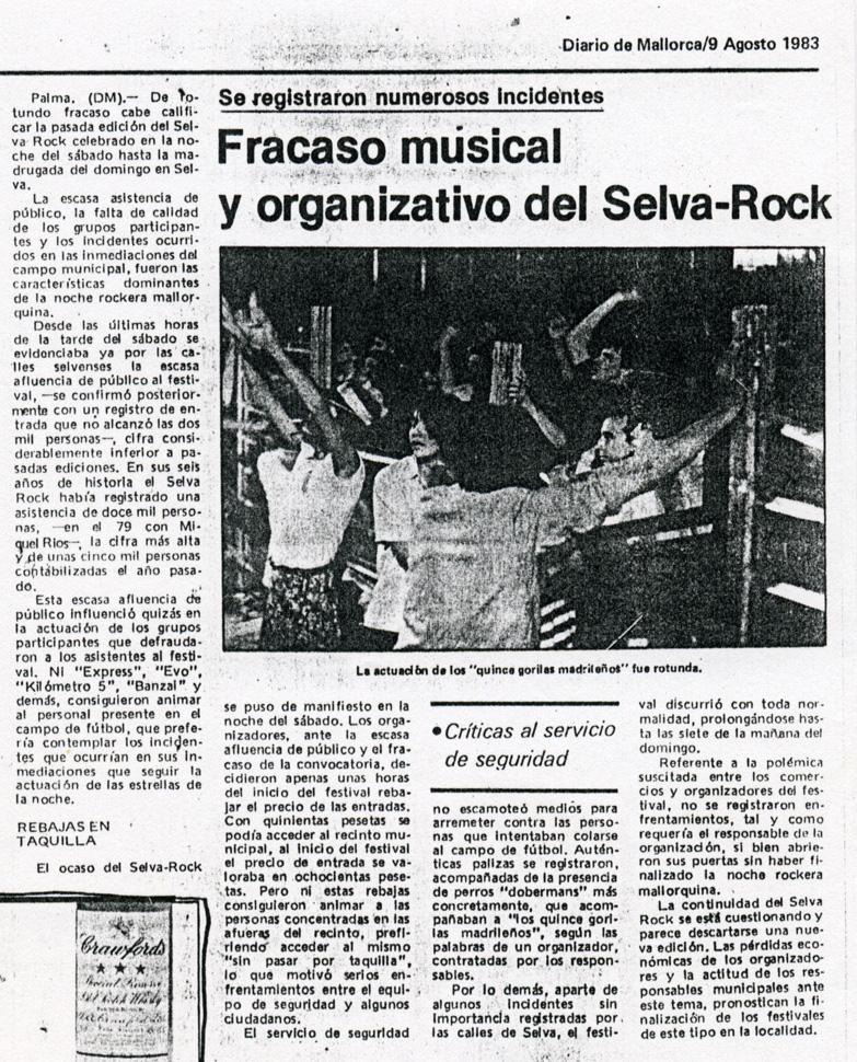 Selva Rock 83 en DM