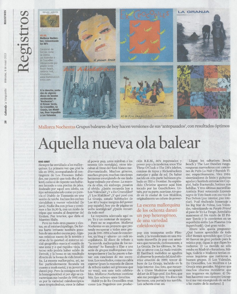 Articulo suplemento culturas la vanguardia